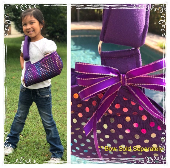 Purple Sparkly Faux Sequins Arm Sling - Child arm sling - Adult arm sling - youth arm sling - girl arm sling