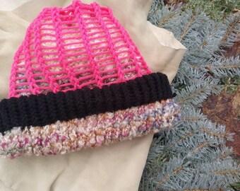 bb4039009d2 Snow hat. Beanie. Experimental. Reversable. Handmade.