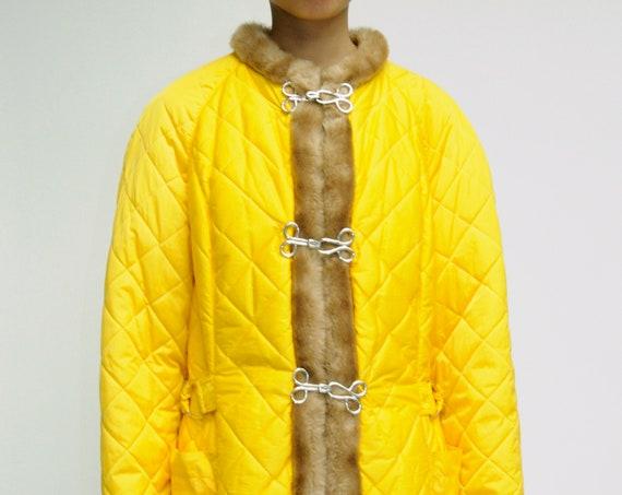 Jean Charles de Castelbajac Apres Ski Yellow Skirt Set