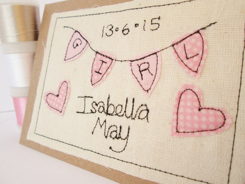 New baby card/ personalised baby card / birth congratulations image 0