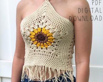 ce8edad79a9b80 The Helia Crop Top PDF DIGITAL DOWNLOAD Crochet Pattern