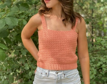 Twist Of Summer Tank PDF DIGITAL DOWNLOAD Crochet Pattern, Cute Summer Tank Top Crochet Pattern, Easy Crochet, Beginner Crochet Top Pattern