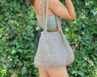 The Aspen Loop Bag PDF DIGITAL DOWNLOAD Crochet Pattern, Crochet Purse Pattern, Cotton Crochet Bag Pattern, Crossbody Crochet Bag Tutorial
