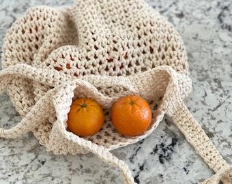 The Magical Market Tote PDF DIGITAL DOWNLOAD Crochet Pattern, Slouchy Mesh Crochet Market Tote Bag, beachy boho crochet market bag pattern