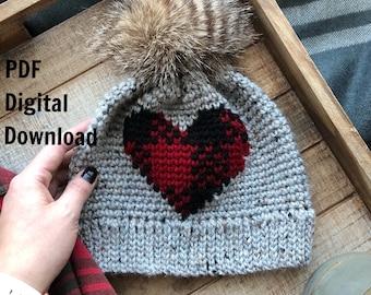 Oso Plaid Beanie PDF DIGITAL DOWNLOAD Crochet Pattern Plaid  36a68bfba6b