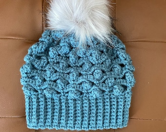 The Pop Of Love Beanie PDF DIGITAL DOWNLOAD Crochet Pattern, Hat Not Hate Beanie, Crochet Popcorn Hat, Crochet Beanie For Youth, HatNotHate