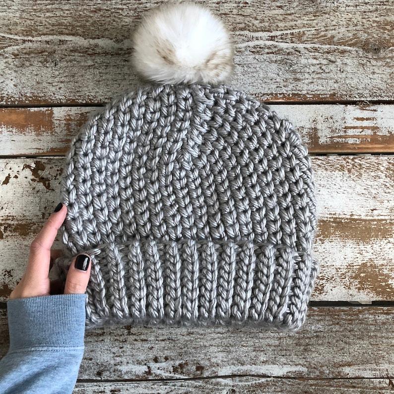 easy beanie winter chunky beanie pattern Women/'s Bulky crochet beanie pattern The Chain-Link Beanie PDF DIGITAL DOWNLOAD Crochet Pattern