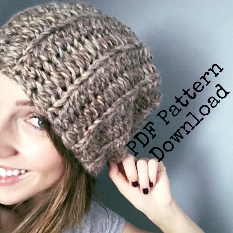 a6f6862720b The basic chunky slouch crochet PDF PATTERN digital download