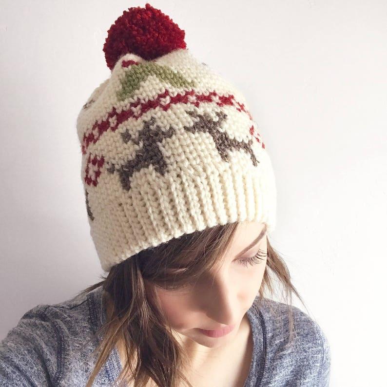 d667ee98 Mistletoe Kisses Beanie PDF DIGITAL DOWNLOAD Crochet pattern   Etsy