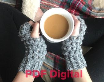 Ashlyn Gloves PATTERN, Crochet fingerless gloves pattern, Crochet fingerless mitts pattern, Wrist warmers pattern, women's gloves pattern