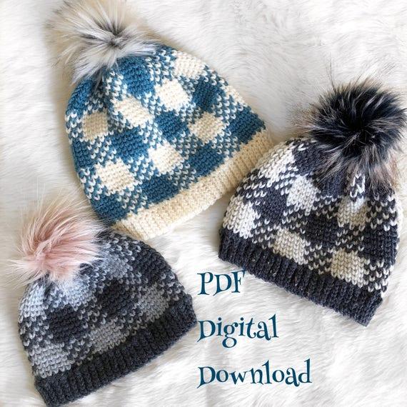 The Flannel Forrest Beanie PDF DIGITAL DOWNLOAD Crochet  ac38cb0940c