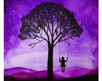 Daydreamer Purple Print