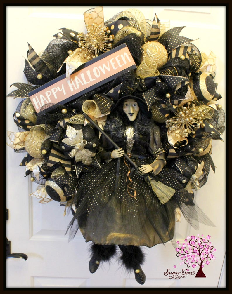 Witch Wreath Halloween Wreath Halloween Witch Wreath Witch image 0