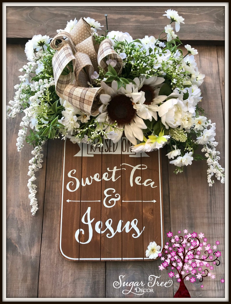 Home Decor Sign Sweet Tea Sign Rustic Home Decor Wall image 0