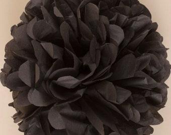 Black Paper Pom Pom