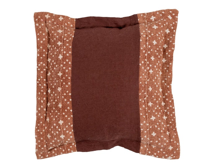 Cocoa Linen and Mud Cloth Pillow Cover