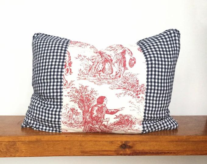 "Toile de Jouy Bedding - Standard (20"" x 26"") Vintage Flannel - Sham"