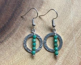 Faceted Amazonite Drop Earrings