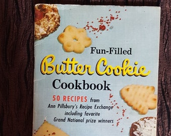 Vintage Fun-Filled Butter Cookie Cookbook by Ann Pillsbury