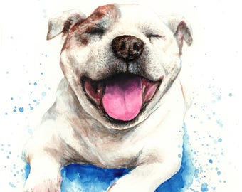 Custom pet portrait, pet portrait, custom dog portrait, cat portrait, handmade illustration from photo