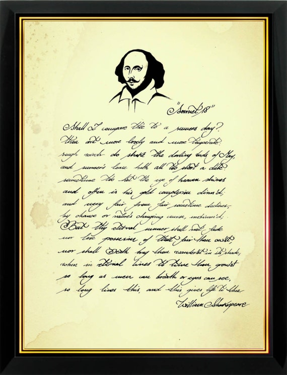 an interpretation of sonnet 18 by william shakespeare Sonnet 18 is one of shakespeare's most well-known and recognized pieces of poetry the first quatrain is a comparison of a young man to a summer's day-and the outcome is thou art more lovely and.