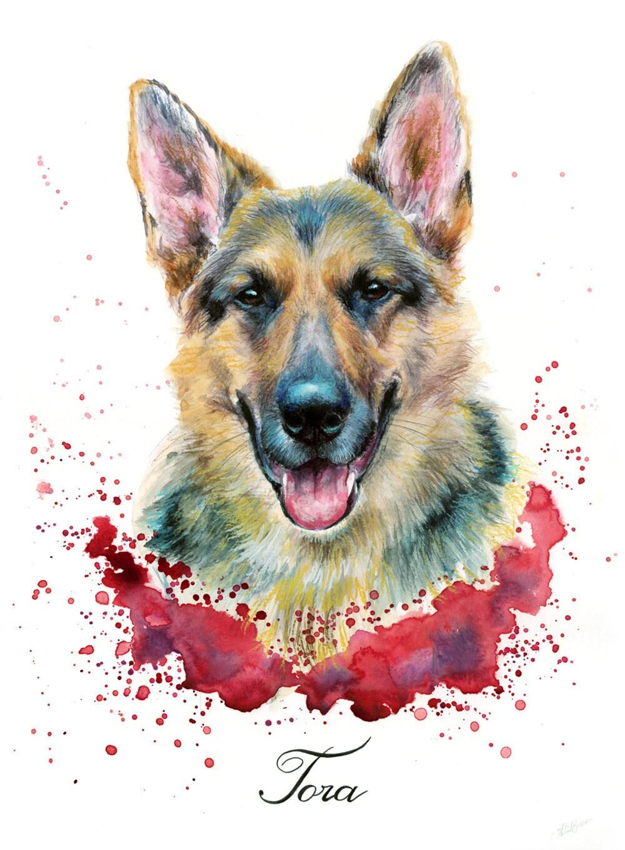 Pet Portrait, pet memorial, pet loss gift, pet painting, dog portrait, dog  painting, cat portrait cat painting handmade original art