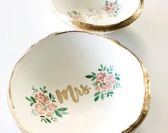 mrs ring dish jewelry dish bridal shower gift gift for bride wedding gift unique wedding gift engagement gift custom ring ring dish
