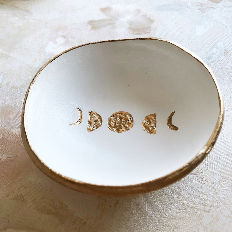 Ring Holder Dish Moon Phases The Painted Press Ring Dish image 0