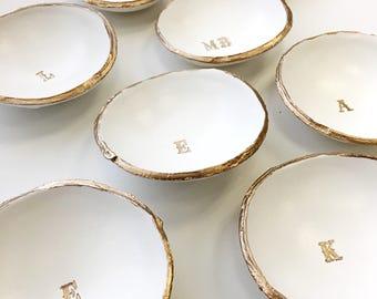 Monogram Jewelry Dish, Monogram Ring Dish, Wedding Ring Holder, Personalized Ring Dish, Personalized Gift, Wedding Gift, Engagement Gift