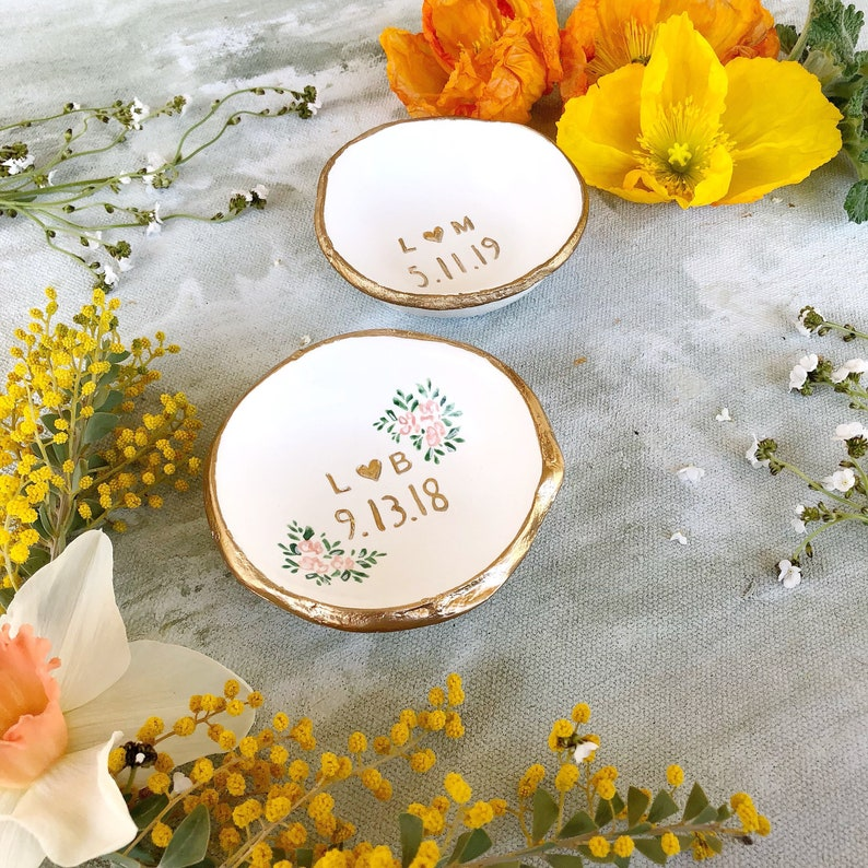 Wedding Ring Holder /  Wedding Gift / Date and Initials / image 0