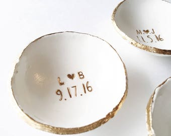 Wedding Gift For Couple Jewelry Dish / Date and Initials / Wedding Gift / Personalized Gift / Personalized / Engagement Gift / Bridesmaids