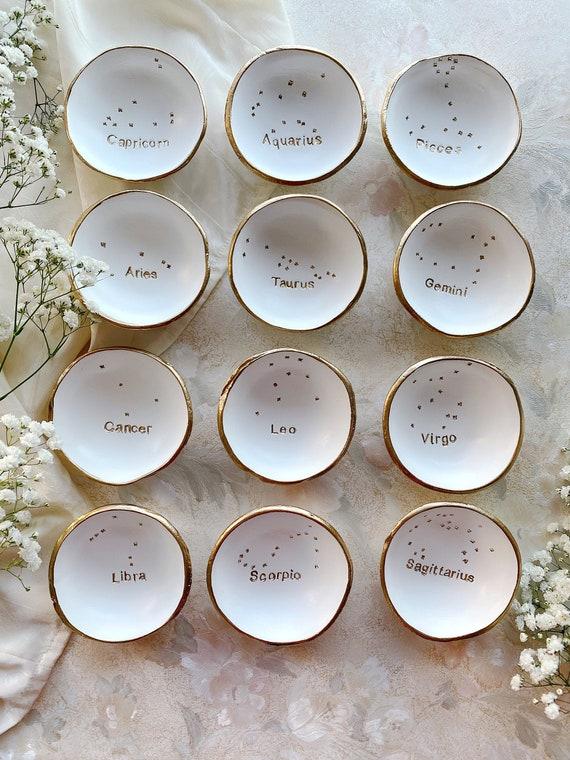 Watercolor Zodiac Jewelry Dish  Ring Dish  Bridesmaids Gift  Wedding Gift  Personalized Gift  Zodiac Signs  Zodiac Jewelry  Custom
