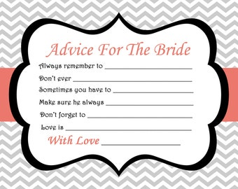 bridal shower advice cards bridal shower games printable advice for the bride wedding games marriage wish married wishes 424