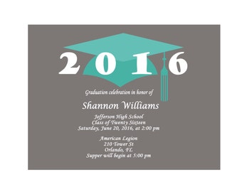 Mini Graduation Party Invitations Graduation Trading Card