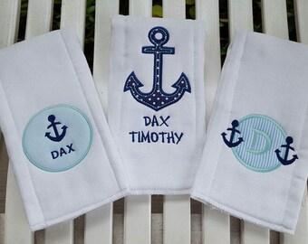 ANCHORS Burp Cloths Gift Set!