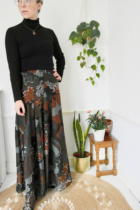 1970s Lurex Maxi Skirt, Metallic Maxi Evening Skir