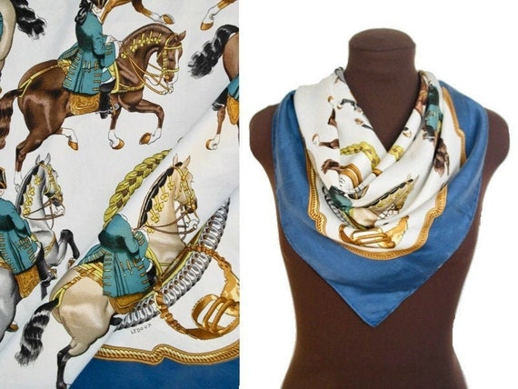 Hermes Reprise Silk Scarf, Large French Designer S