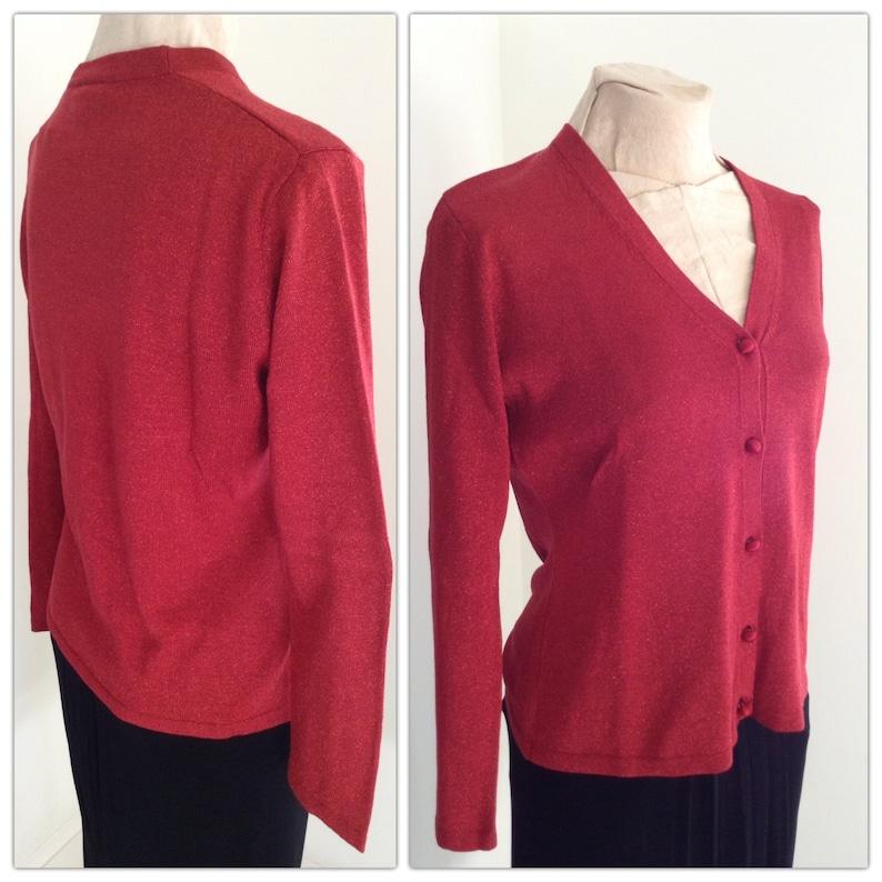 Vintage Ann Taylor Red Blouse