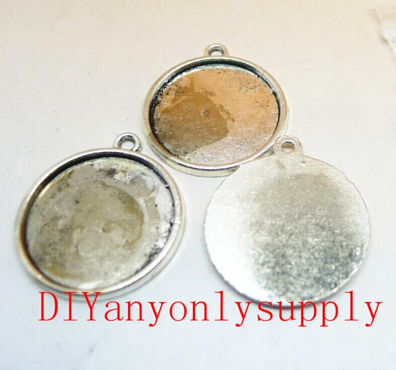 50pcs 20mm antiqued silver filigree round cabochon bezel trayspendant blankpicture frame charms findings cabochon size