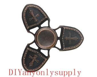 1pcs antiqued copper Fidget Finger Spinner Hand Toy Focus EDC Long Spin Stress Relief Pocket Desk Gift ADHD