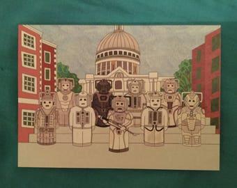 Doctor Who Cyberman Greetings Card