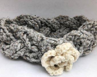 Braided Crochet Cowl Scarf