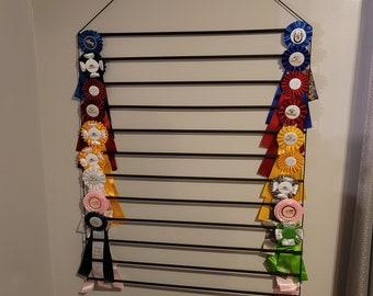 XL 12 row Ribbon Display! Horse Show Ribbon Display Holder -Holds 115+ RIBBONS!!!!