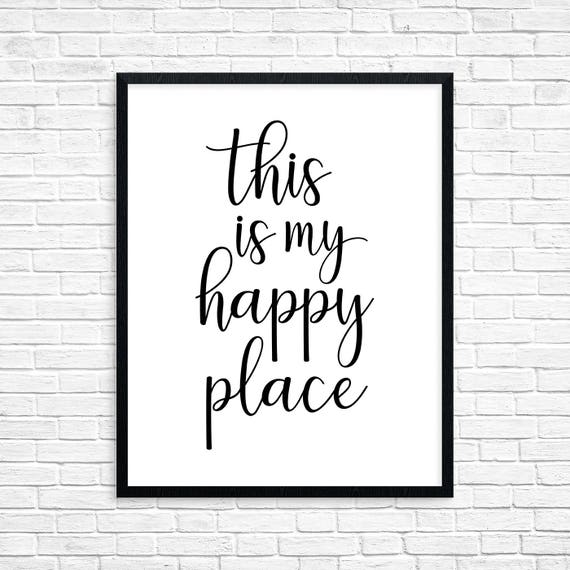 This Is My Happy Place Motivational Wall Art