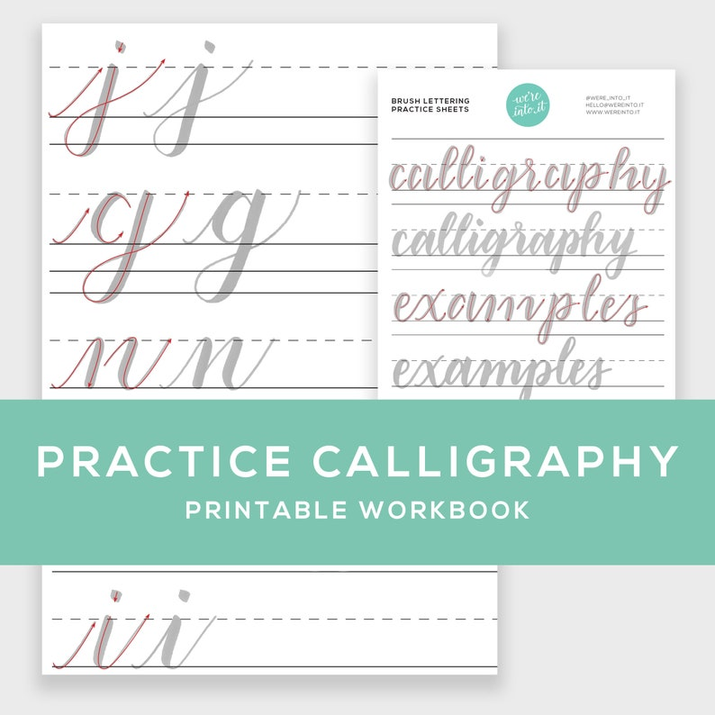 Learn Calligraphy Practice Sheets Printable  brush image 0