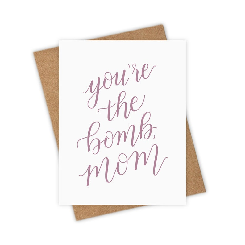 You're the Bomb Mom  Mothers Day Greeting Card Mom image 0