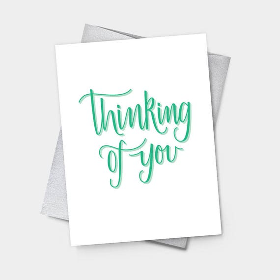 thinking of you sympathy greeting card get well feel etsy