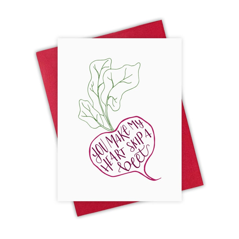 You Make My Heart Skip a Beet   Valentine's Day Greeting image 0