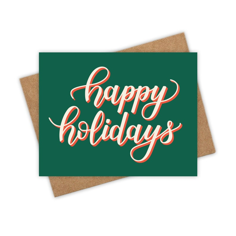 Happy Holidays  Holiday Greeting Card Christmas Card Merry image 0