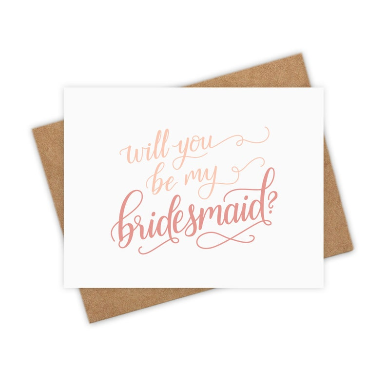 Will You Be My Bridesmaid Card  Maid of Honor Matron of image 0